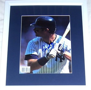 Don Mattingly autographed New York Yankees photo matted & framed