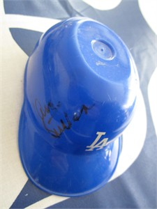 Don Sutton autographed Los Angeles Dodgers mini ice cream batting helmet