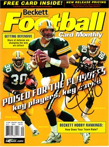 Donald Driver autographed Green Bay Packers 2003 Beckett Football magazine cover