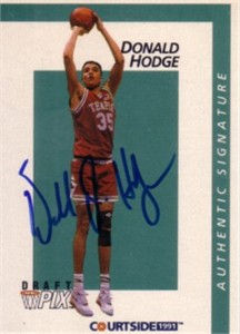 Donald Hodge Temple Owls 1991 Courtside certified autograph card