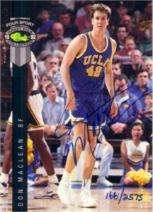 Don MacLean certified autograph UCLA Bruins 1992 Classic card