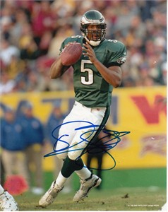Donovan McNabb autographed Philadelphia Eagles 8x10 photo (damaged)