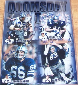 Bob Lilly Larry Cole Jethro Pugh George Andrie autographed Dallas Cowboys Doomsday Defense 16x20 photo