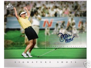 Dottie Pepper certified autograph 2004 SP Signature 8x10 photo card