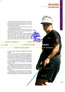Dottie Pepper autographed full page golf magazine photo