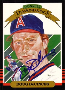 Doug DeCinces autographed Angels 1985 Donruss jumbo 5x7 Diamond King card