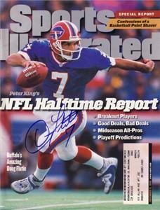 Doug Flutie autographed Buffalo Bills 1998 Sports Illustrated