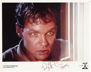Doug Hutchison autographed X-Files 8x10 Tooms photo