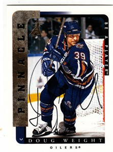 Doug Weight certified autograph Edmonton Oilers Be A Player card