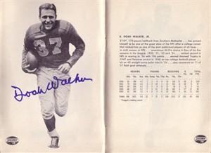 Doak Walker autographed 1955 Detroit Lions yearbook
