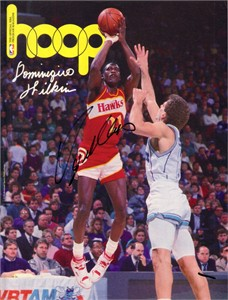 Dominique Wilkins autographed Atlanta Hawks 1990 NBA Hoop game program