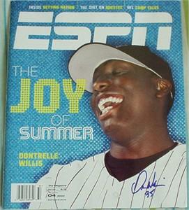 Dontrelle Willis autographed Florida Marlins 2003 ESPN Magazine