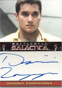 Dominic Zamprogna Battlestar Galactica certified autograph card