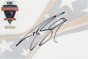 Drew Brees autographed Celebrity Championship 4x6 signature card