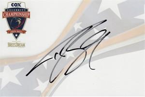 Drew Brees autographed Celebrity Championship 4x6 signature card