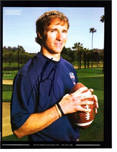 Drew Brees autographed 2010 Southland Golf magazine
