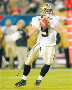 Drew Brees autographed New Orleans Saints Super Bowl 44 8x10 photo