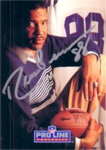 Drew Pearson autographed Dallas Cowboys 1991 Pro Line card