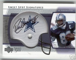 Drew Pearson certified autograph Dallas Cowboys 2004 Upper Deck Sweet Spot Signatures card #49/100