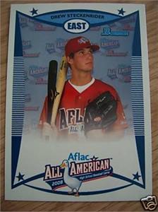 Drew Steckenrider 2008 AFLAC Bowman Rookie Card