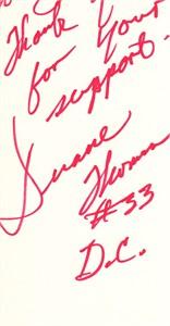 Duane Thomas autographed paper (cut signature)