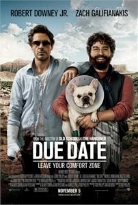 Due Date mini movie poster (Robert Downey Jr. & Zach Galifianakis)