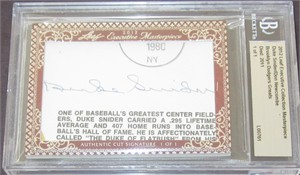 Duke Snider & Don Newcombe certified autograph 2012 Leaf Executive Masterpiece Dual Cut Signature card #1/1
