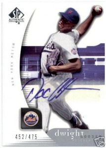 Dwight (Doc) Gooden certified autograph New York Mets 2006 SP Authentic card