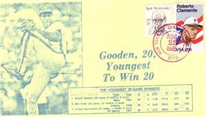 Dwight Gooden Youngest 20 Game Winner 1985 New York Mets cachet envelope