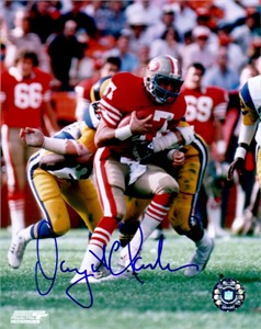 Dwight Clark autographed San Francisco 49ers 8x10 photo