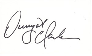 Dwight Clark autographed 3x5 inch index card (PSA/DNA)