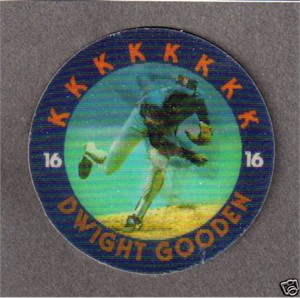 Dwight Gooden 1986 Sportflics Magic Motion disc