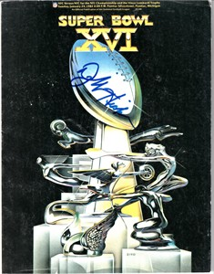Dwight Hicks autographed Super Bowl 16 game program