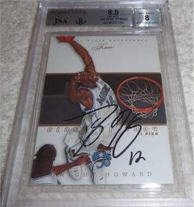 Dwight Howard autographed Orlando Magic 2004-05 Flair card graded BGS 8.5 (JSA)