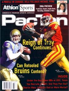 Dwayne Jarrett autographed USC Trojans 2006 Athlon football magazine