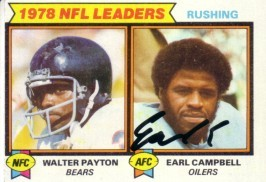 Earl Campbell autographed Houston Oilers 1979 Topps card