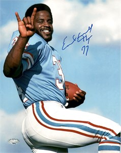 Earl Campbell autographed Houston Oilers 8x10 photo (TriStar)