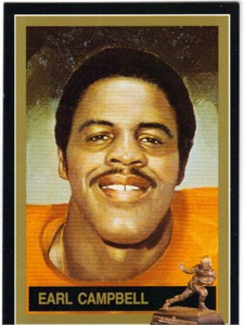 Earl Campbell Texas Heisman Trophy winner card