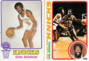 Earl Monroe 1973-74 1974-75 1978-79 Topps basketball 3 card lot