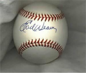 Earl Weaver autographed MLB baseball