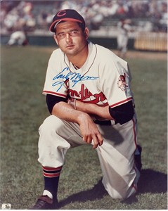 Early Wynn autographed 8x10 Cleveland Indians photo