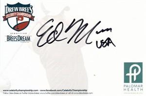 Ed Moses autographed 4x6 signature card