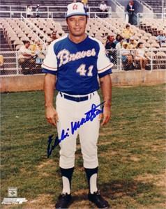 Eddie Mathews autographed 8x10 Atlanta Braves photo