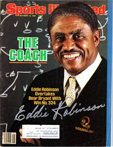 Eddie Robinson autographed Grambling 1985 Sports Illustrated