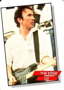 The Edge U2 1985 Rockstar Concert Card