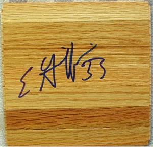 Eddie Griffin (Seton Hall) autographed basketball hardwood floor