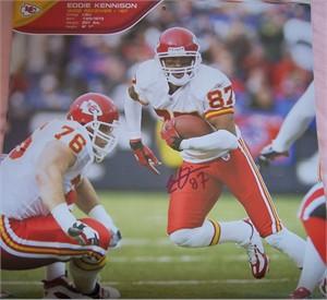 Eddie Kennison autographed Kansas City Chiefs calendar page