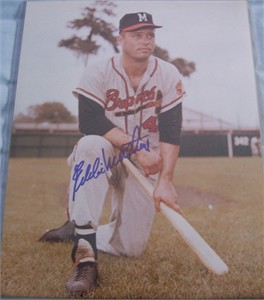 Eddie Mathews autographed Milwaukee Braves 11x14 photo