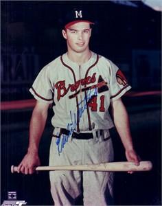 Eddie Mathews autographed 8x10 Milwaukee Braves photo