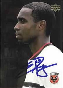 Eddie Pope autographed MLS D.C. United card